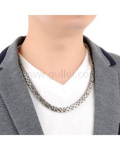Thick Byzantine Flat Chain for Men Christmas Gift