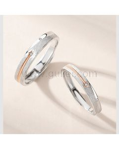 Engraved Couple Rings Birthday Gift Set for 2 (Adjustable Size)