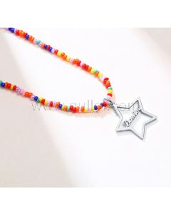Star Shaped Name Necklace Gift for Girlfriend