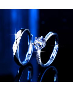 2 Carat Diamond Couples Engagement Rings for two