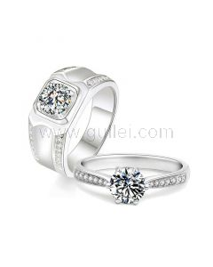 3 Carat Diamond Engagement Rings for Him and Her