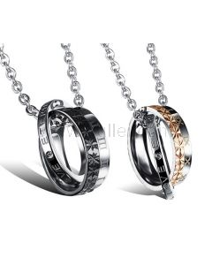 Engraved Forever Love Matching Jewelry Set for Him and Her