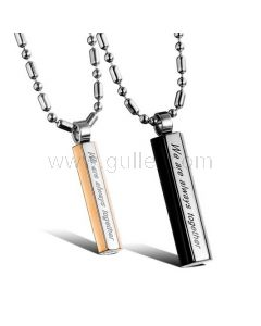 Personalized Married Couples Pendants Jewelry Set for 2