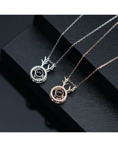 Light Projection Couple Necklaces Anniversary Gift