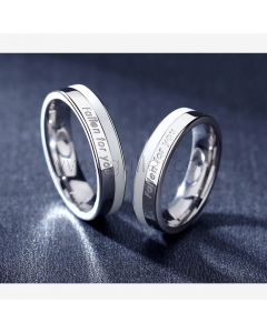 Matching Couple Rings Jewelry Gift Set for 2
