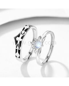 Relationship Rings Anniversary Gift Set for Couple