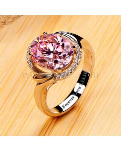 Personalized 3 Carats Oval Cut Diamond Ring for Her