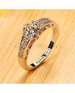Personalized 0.8 Carat Diamond Engagement Ring for Her