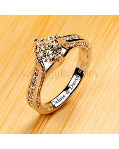 1 Carat Diamond Infinity Engagement Ring for Her