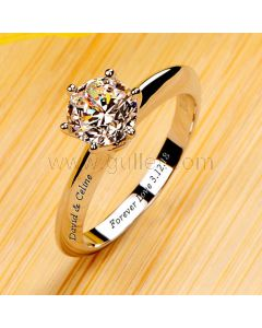 1 Carat Solitaire Diamond Engagement Ring for Her