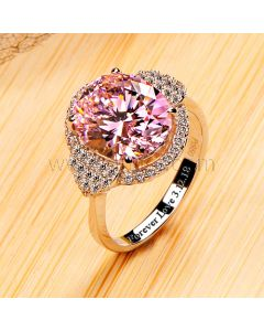 4 Carat Diamond Engagement Ring for Women with Engraving