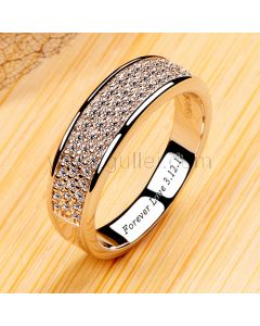 0.1 Carat Diamond Eternity Engagement Ring with Names
