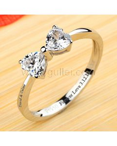 Bow Shaped 0.5 Carat Diamond Promise Ring for Her