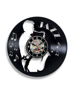 Unique Gift for Jazz Lovers Vinyl Record Clock