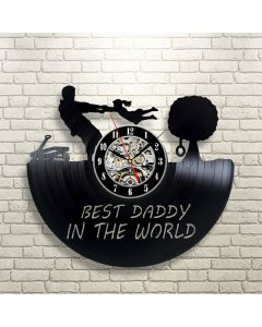 Gift for Father Vinyl Record Wall Clock Best Dad