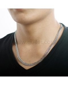Sterling Silver Mens Chain Necklace Gift for Boyfriend