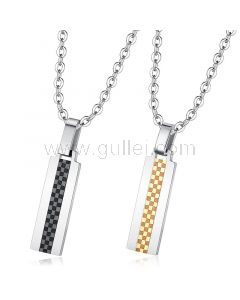 Matching His and Hers Engraved Necklaces