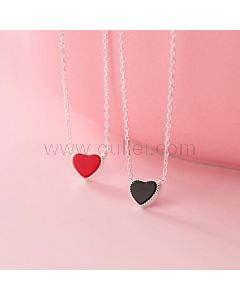 Dainty Hearts Engraved Matching Necklaces Set