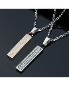 Personalized Married Couples Matching Pendants Jewelry Gift