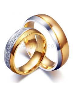 Engraved His and Hers Titanium Wedding Rings Set for 2