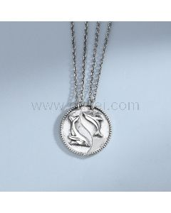 His and Hers Matching Necklaces Gift for Couple