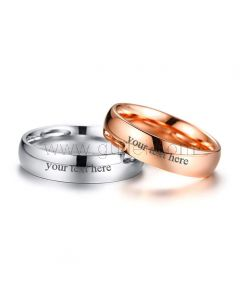 Custom Name Wedding Bands for Him and her