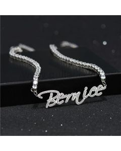 Personalized Name Necklace with Crystals