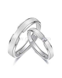 Custom Silver Wedding Bands for Him and Her