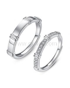 Personalized Matching Engagement Rings Set for 2
