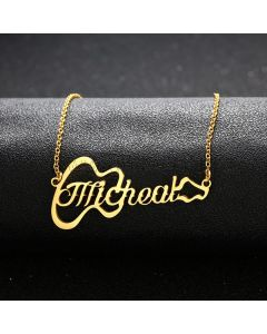 Custom Name Necklace Gift for Guitarist