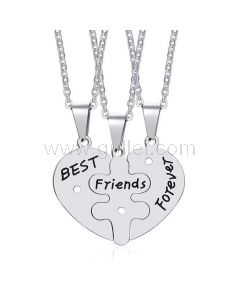 Hearts 3 Piece Best Friends Forever Necklaces