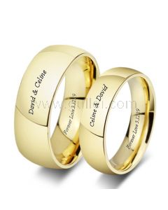 Custom Titanium Wedding Bands for Him and Her