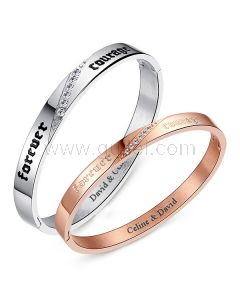 Customized Relationship Couples Jewelry Bracelets for 2