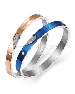 Engraved Hearts Bracelets Christmas Gift for Him and Her