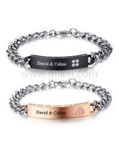 Customized Matching Relationship bracelets Set for Him and Her