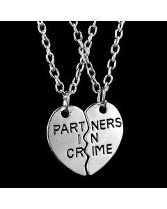 Partners in Crime Necklaces Gift for Girlfriend Boyfriend