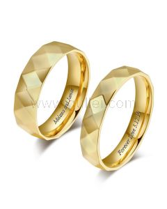 Matching His and Hers Promise Rings Engraved