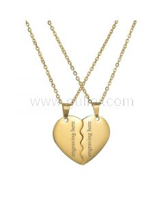 Half Heart Promise Necklaces Couple Anniversary Gift