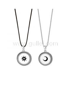 Sun and Moon Necklaces Gift for Girlfriend Boyfriend