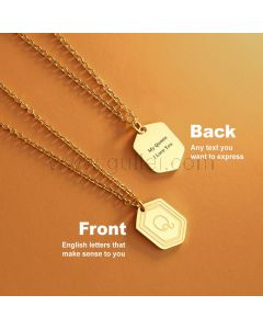Name Initial Pendant Necklace for Her