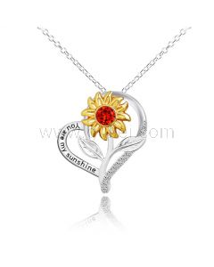 Heart Shaped Pendant Necklace for Women