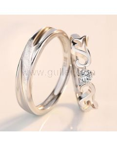 Angel Wings Couple Wedding Bands for 2