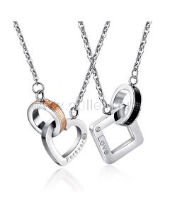 Personalized Couple Relationship Necklaces Gift Set