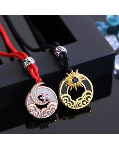 Sun and Moon Matching Couple Necklaces Set
