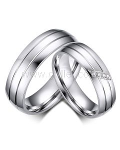 Titanium Couples Engagement Rings with Custom Names