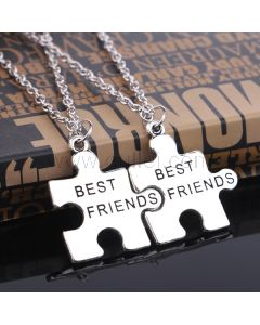 Jigsaw Puzzle BFF Necklaces Birthday Gift Set for 2