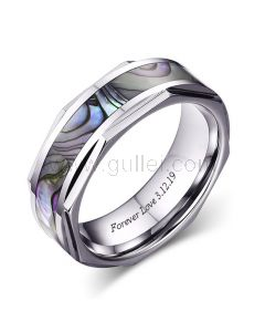 Unique Wedding Anniversary Male Ring Gift 8mm