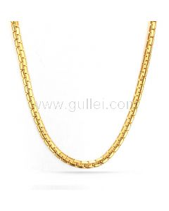 Mens Venetian Box Chain Gold Plated Stainless Steel 60cm