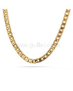 Mens Cuban Curb Chain Necklace Stainless Steel 60cm