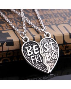 Matching Half Heart BFF Necklaces Birthday Gift Set
